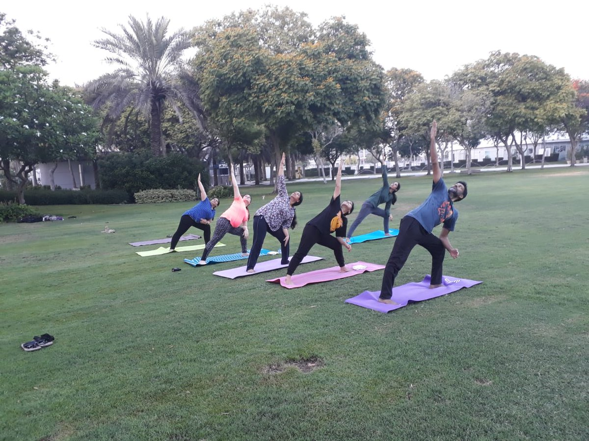 The main programme of Yoga will be organised at Zabeel Park in Dubai on June 21 with mass yoga sessions to be held in Ajman, Sharjah, Umm Al Quwain and Fujairah. Photo courtesy: Twitter/@cgidubai