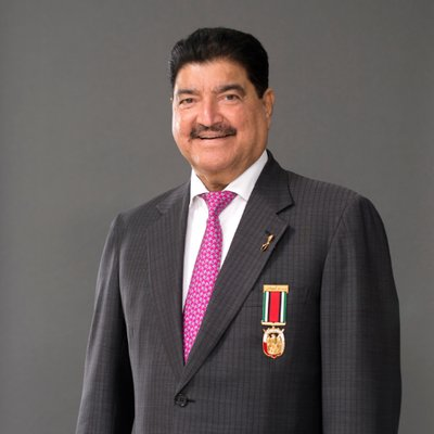 Dr BR Shetty is the founder and chairman of NMC Healthcare, UAE Exchange, Neopharma and BRS Ventures. Photo courtesy: Twitter/@brshetty6