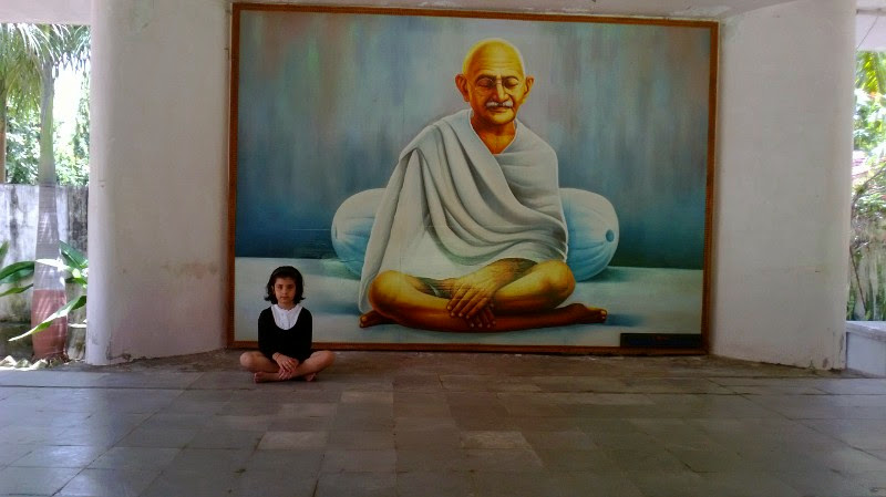 Any quiet place is good enough for kids for 'silent sitting'. Photo courtesy: Kunal Trivedi