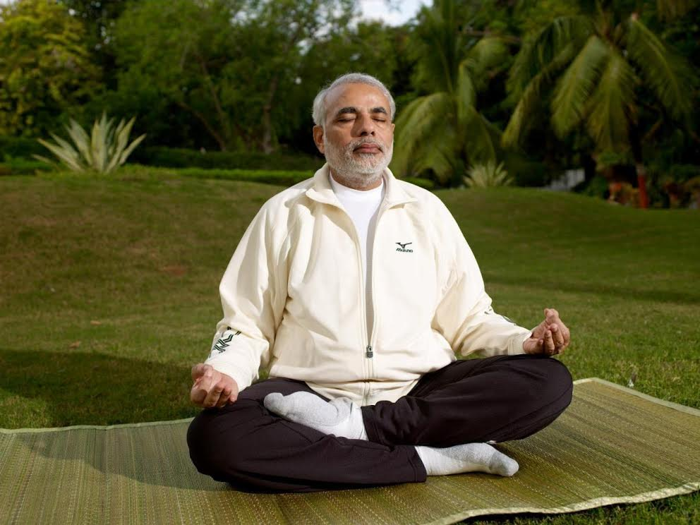 Indian Prime Minister Narendra Modi is a true-blue yoga aficionado. Photo courtesy: Gujarat government