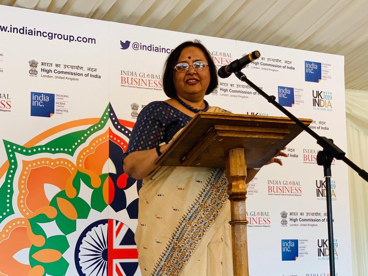 The Indian high commissioner emphasised that the ongoing UK-India Week was indicative of the passion in the UK for a relationship with India.