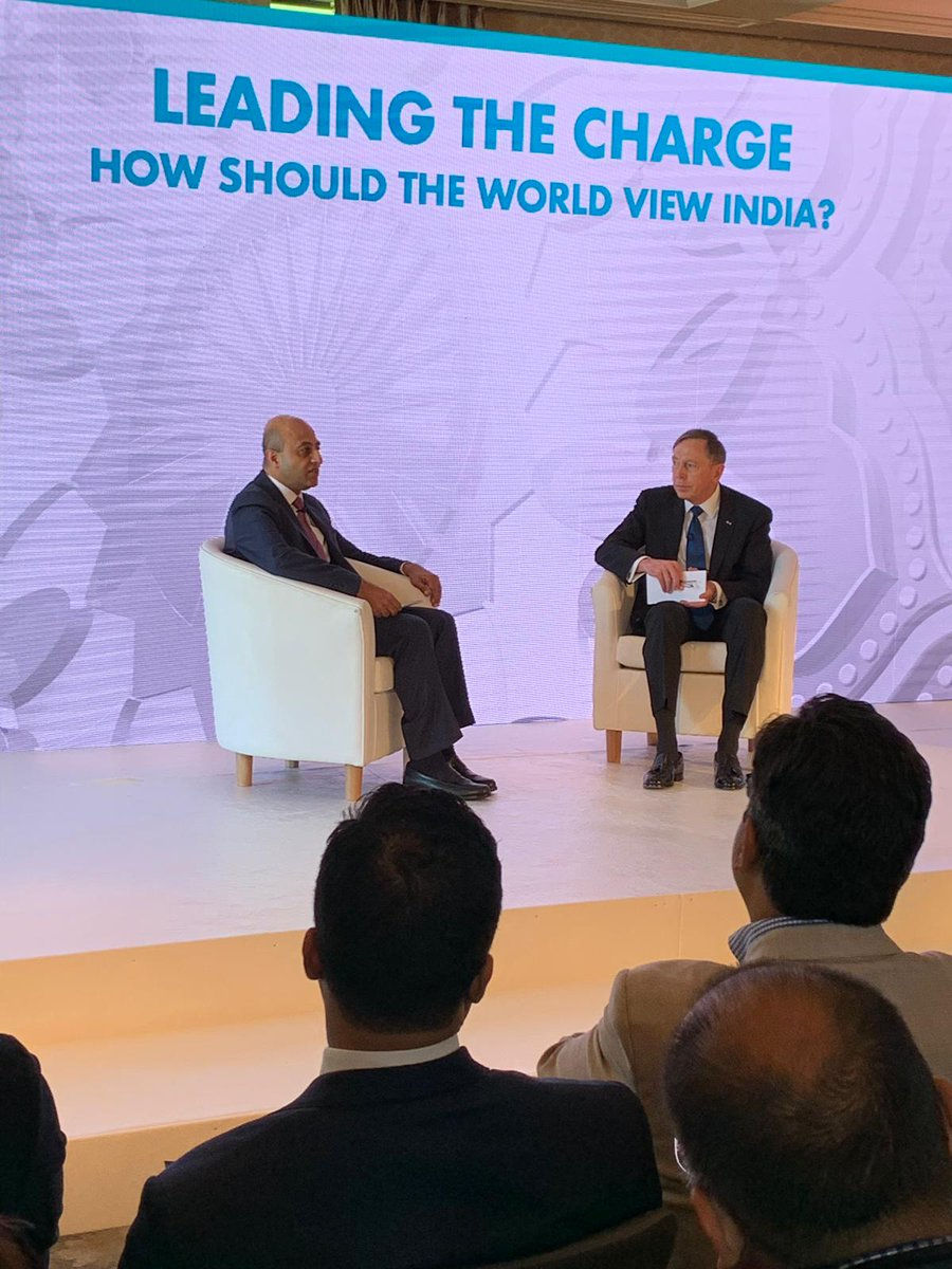 A session with General David H Petraeus and Lord Jitesh Gadhia on 'How should the world view India' at the Leaders' Summit.