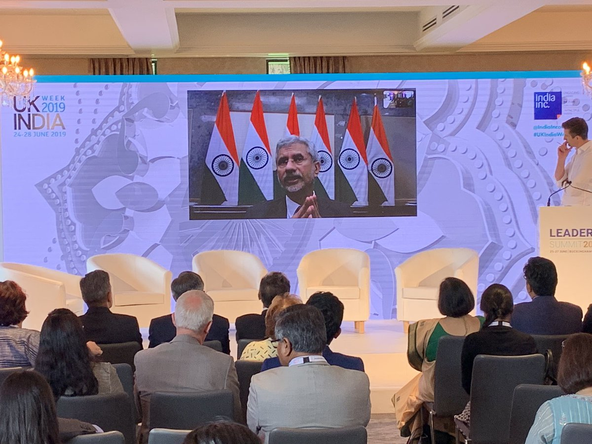 Dr Jaishankar Minister of External Affairs of India speaks on UK-India Relationship