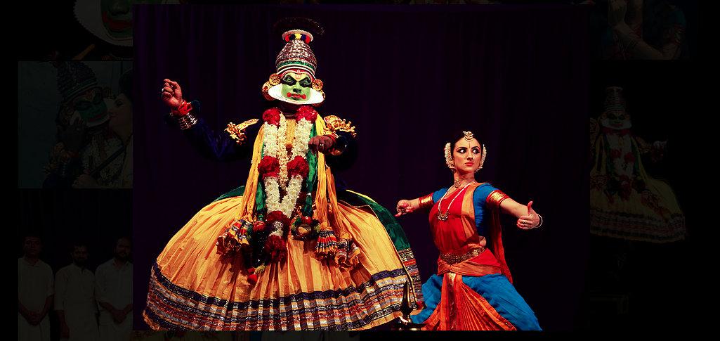 Paris Laxmi and Pallippuram Sunil. Photo courtesy: www.kalashaktiarts.com