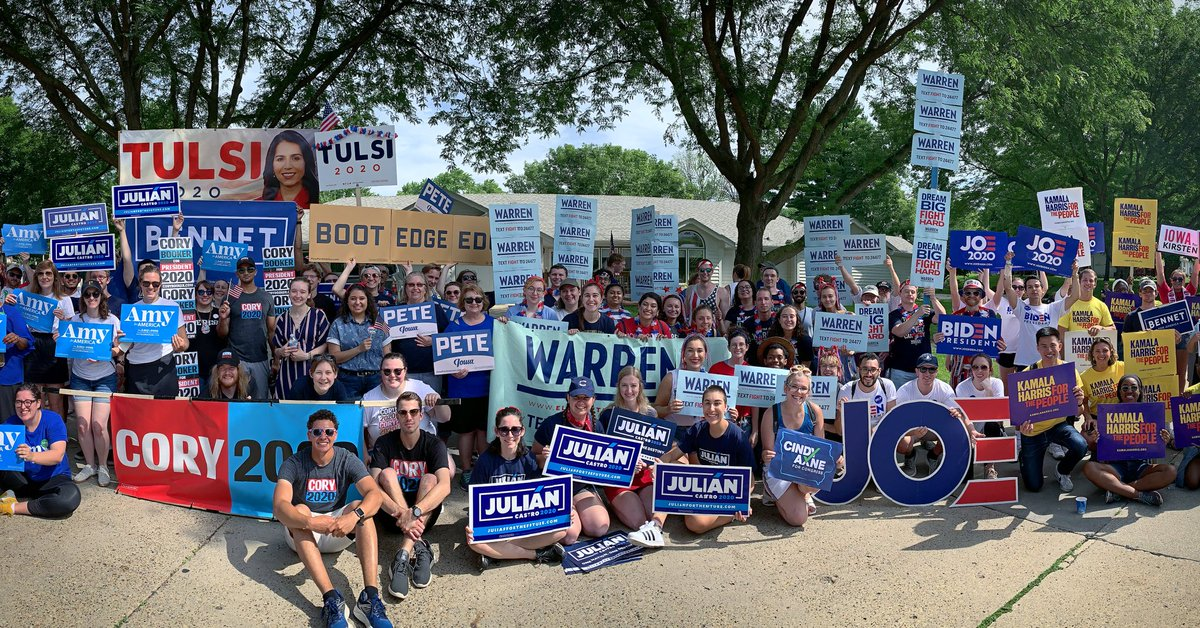Campaigners for Democratic Presidential candidates on the Fourth of July. Photo courtesy: Twitter/@JulianCastro