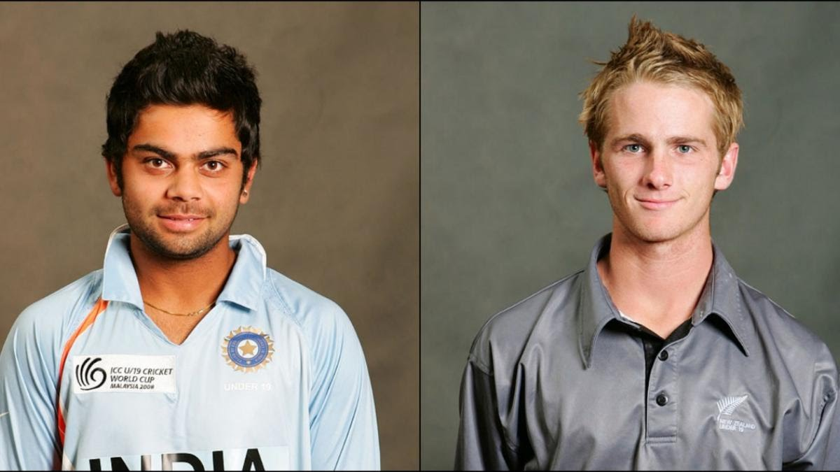 Kohli and Williamson captained their teams in the India-New Zealand semi-final clash in the 2008 U-19 World Cup.