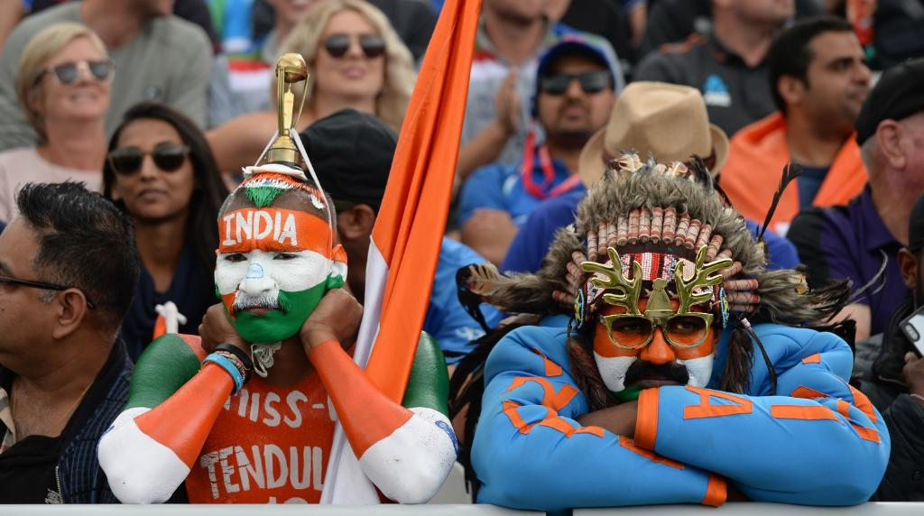 Dejected fans during India's loss to New Zealand in the ICC World Cup semi-final. Photo courtesy: Twitter/@IndianCricNews
