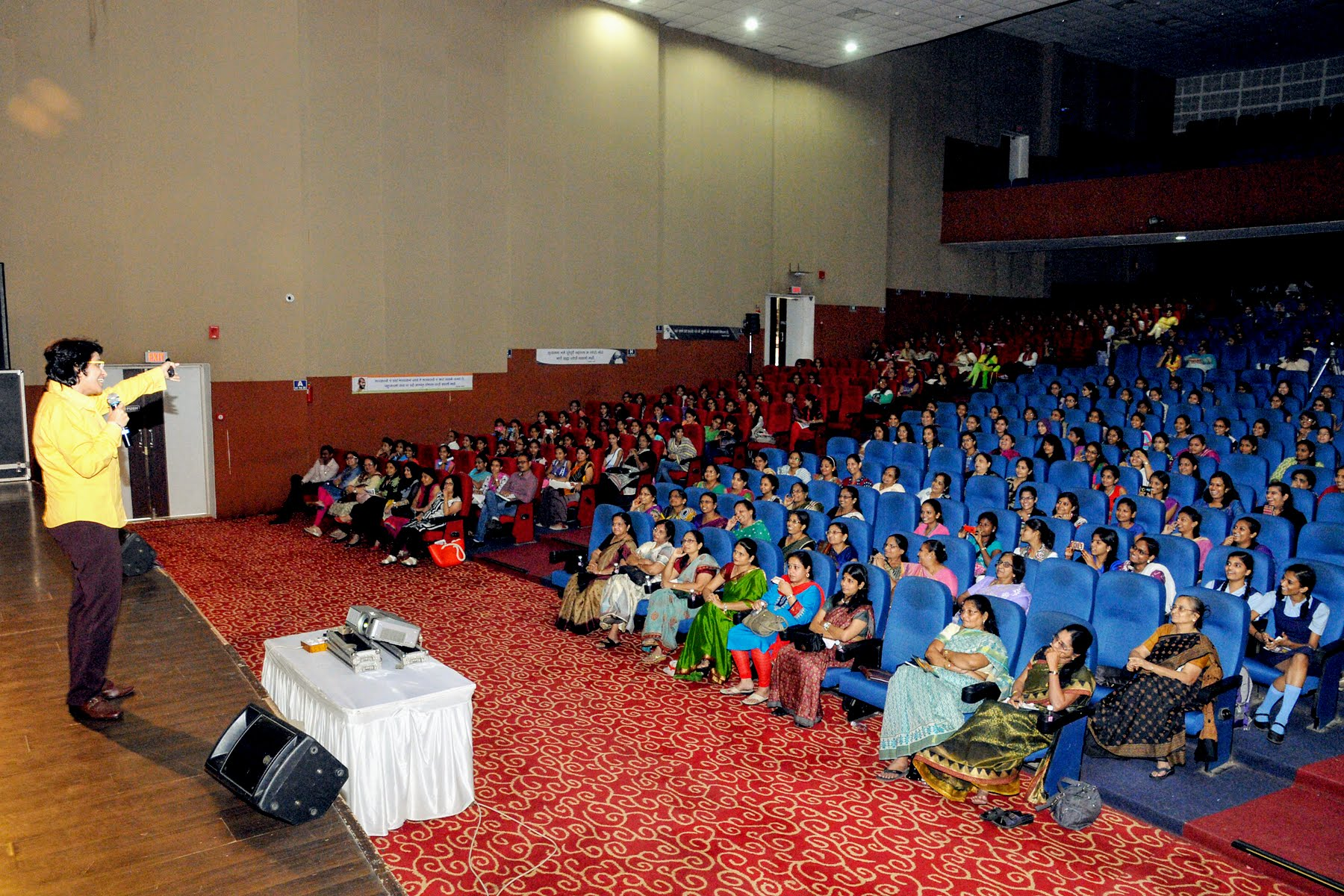 Social activist Ruzan Khambatta speaking on women's empowerment. Photo courtesy: Ruzan Khambatta