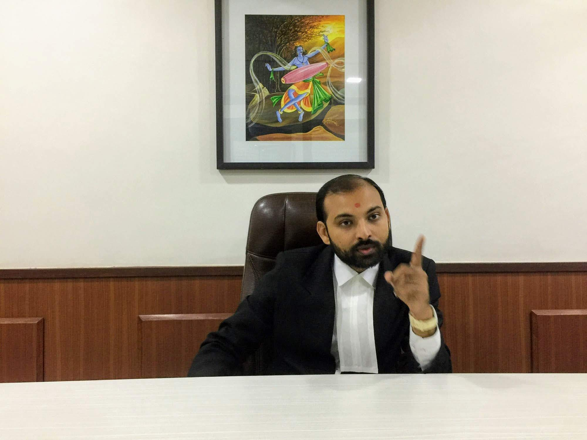 High Court advocate Nishith Joshi wants Indian missions abroad to go an extra mile to help women deserted by NRI husbands. Photo courtesy: Kunal Trivedi