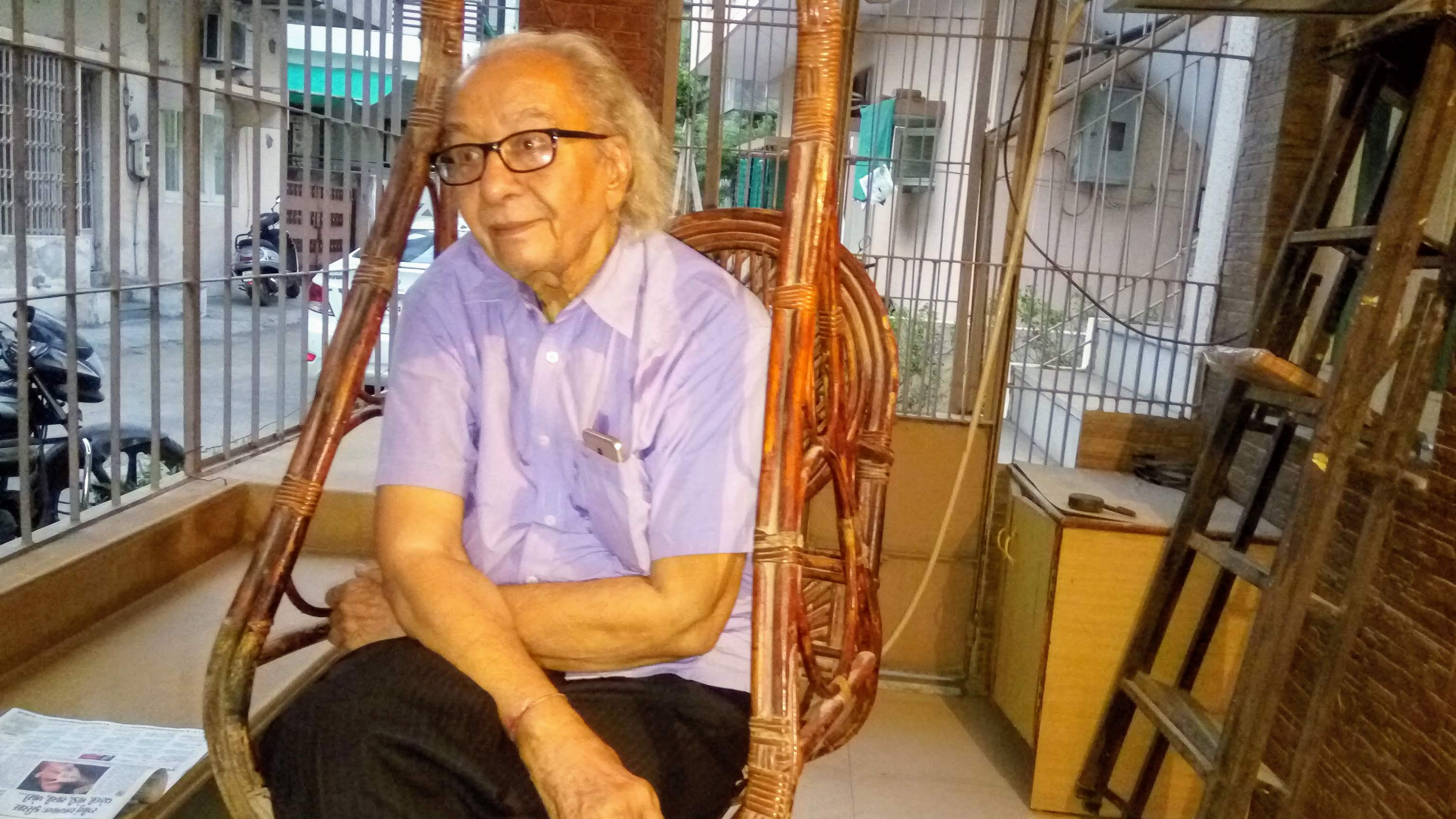 Bhanu Shah donated his 50-year-old rare collection of kites to facilitate the setting up of the museum. Photo courtesy: Mahesh Trivedi