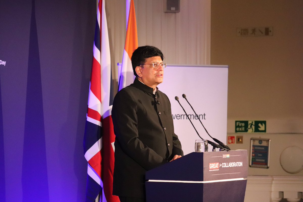 Goyal also addressed the India-UK Joint Economic and Trade Committee (JETCO) on Monday to explore growth opportunities and address barriers to trade.