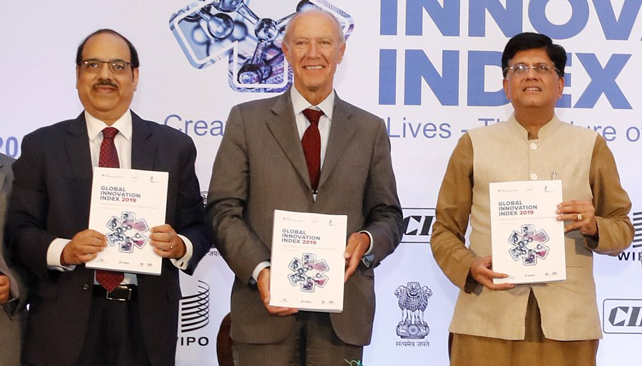 The report. launched in India for the first time, Despite signs of slowing economic growth, innovation continues to blossom, particularly in Asia. Photo courtesy: Twitter/@WIPO