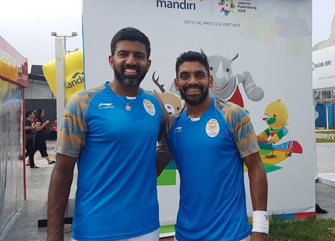 Rohan Bopanna and Divij Sharan. Photo courtesy: Twitter/@rohanbopanna