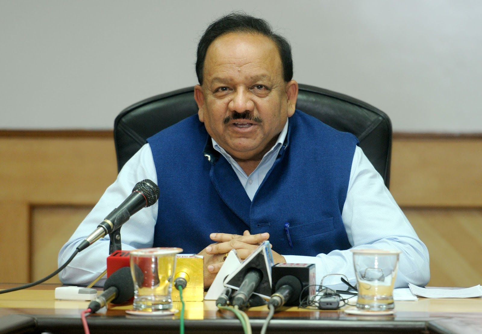 Union Minister for Health and Family Welfare Harsh Vardhan. Photo courtesy: PIB