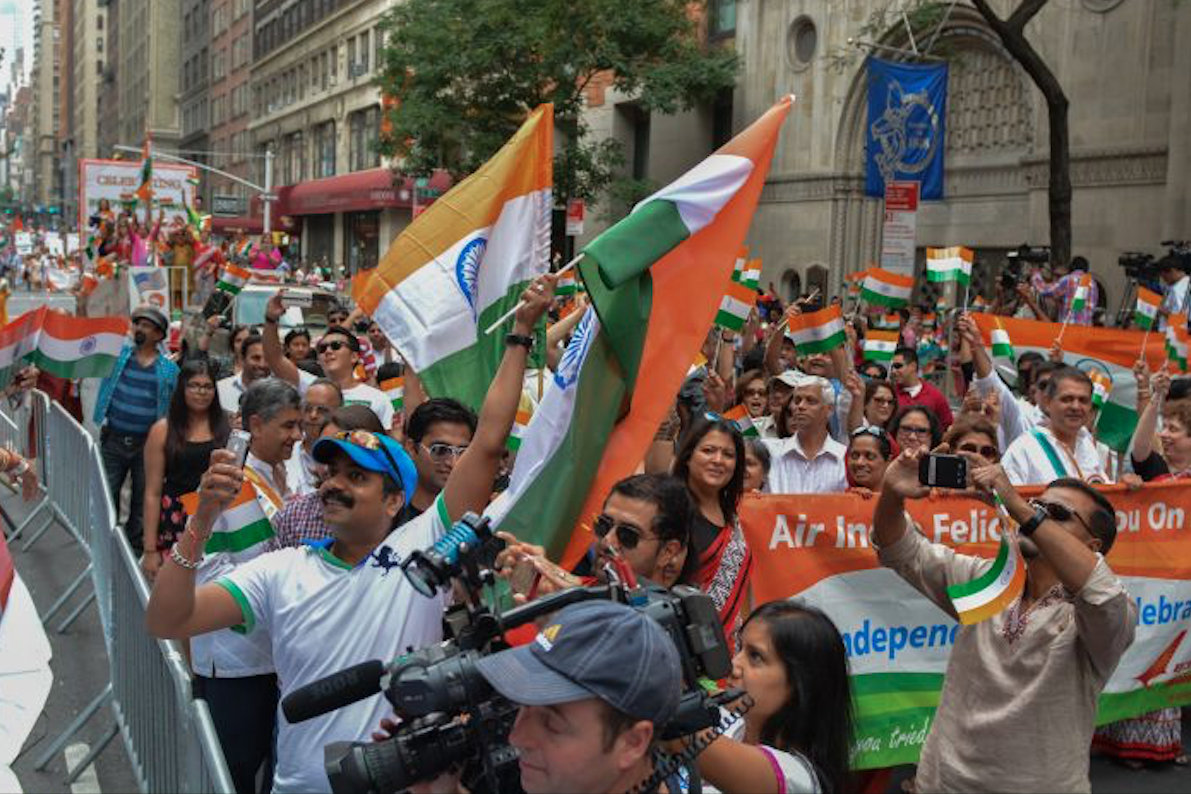 This is the largest parade outside India to mark the country's independence. Photo courtesy: www.fianynjct.org