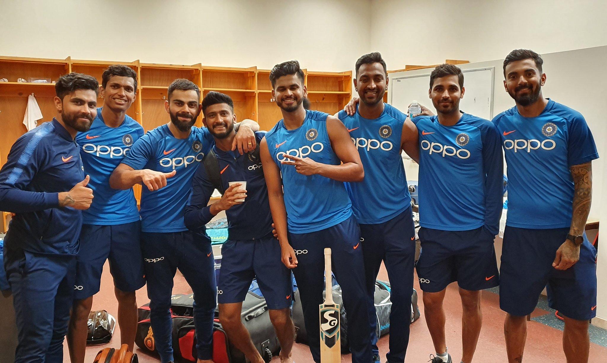 India take on West Indies in a 3 T20 series. Photo courtesy: Twitter/@imVkohli