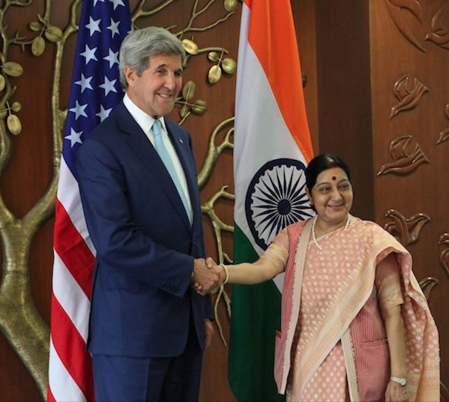 Sushma Swaraj was India's first full-time woman foreign minister. Photo courtesy: Twitter/@SushmaSwaraj