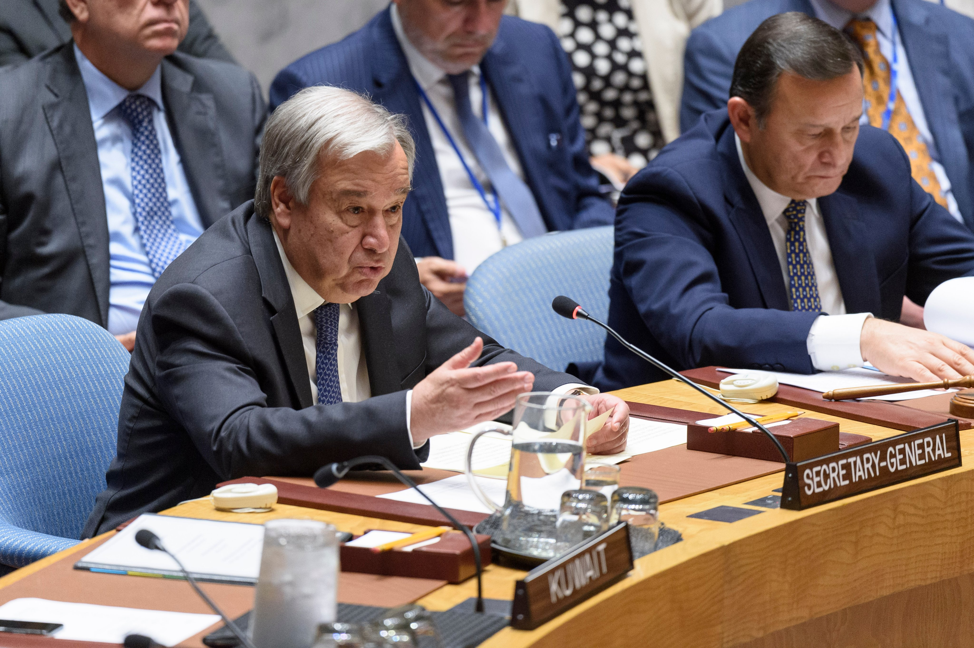 United Nations chief Antonio Guterres urged India and Pakistan to exercise maximum restraint. Photo courtesy: Twitter/@antonioguterres