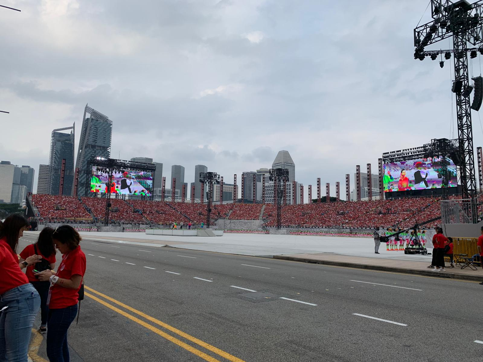 The Singapore National Day Parade is being held at the Padang. Photo courtesy: Connected to India