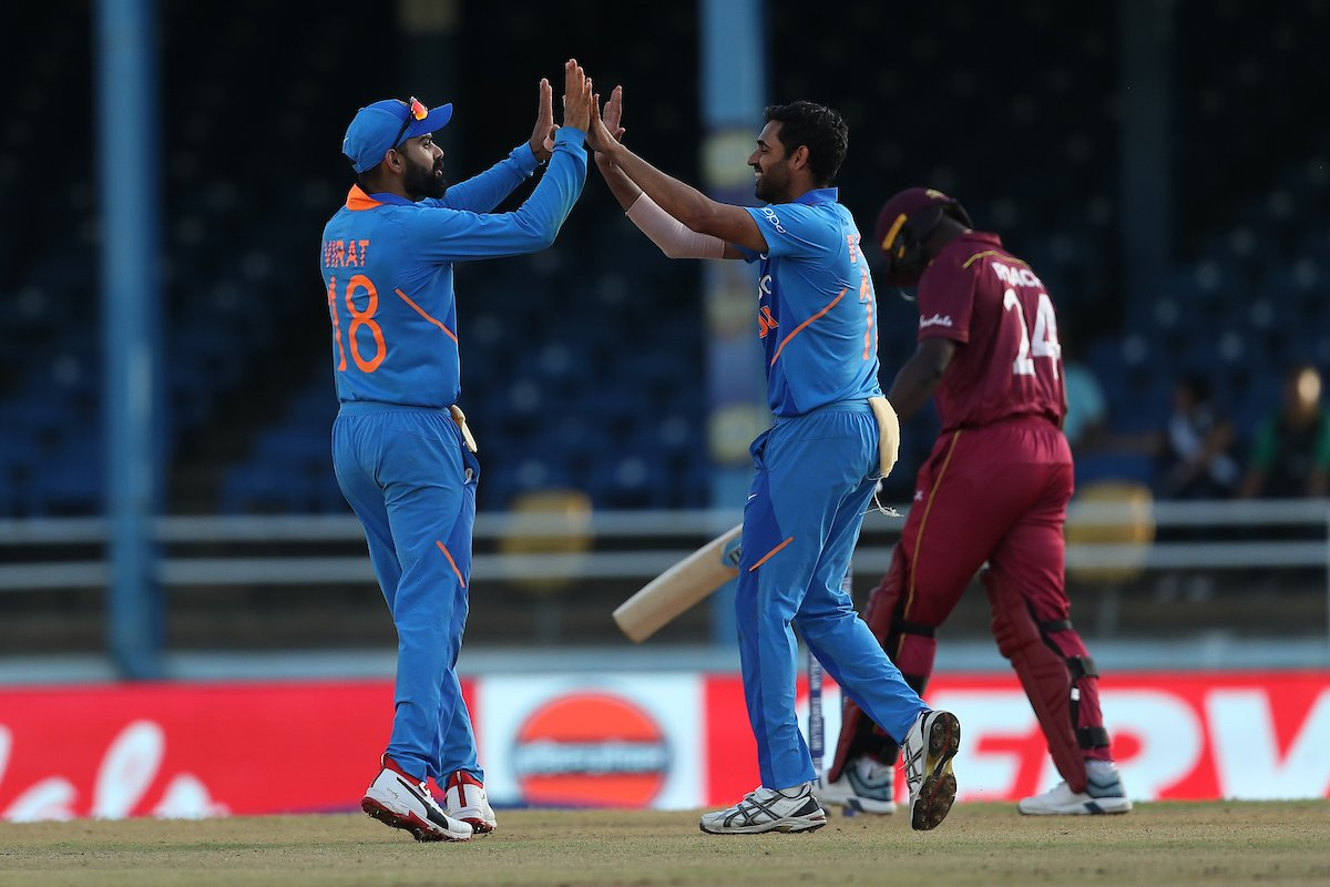 India beat West Indies by 59 runs (D/L method) in the 2nd ODI. Photo courtesy: Twitter/@BCCI