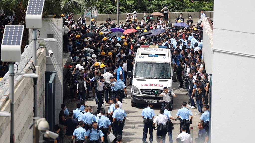 Hong Kong has been rocked by widespread protests for the last two months. Photo courtesy: Twitter/@hkpoliceforce