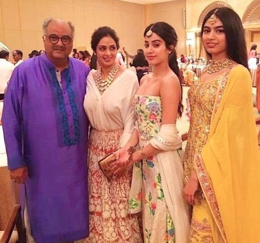 The figure will be officially launched in early September by Sridevi's husband Boney Kapoor and her two daughters, Janhvi and Khushi Kapoor. Photo courtesy: Twitter/@khushi05kapoor
