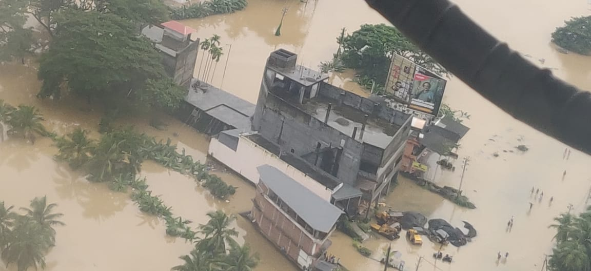 Kerala has seen one of its worst floods ever. Photo courtesy: Twitter/@DefencePROTvm