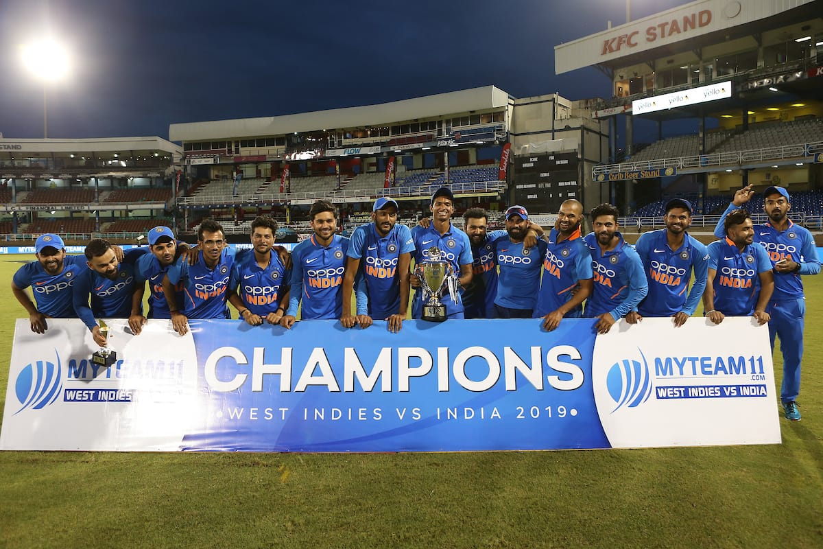 India won the ODI series against the West Indies 2-0. Photo courtesy: Twitter/@imVkohli