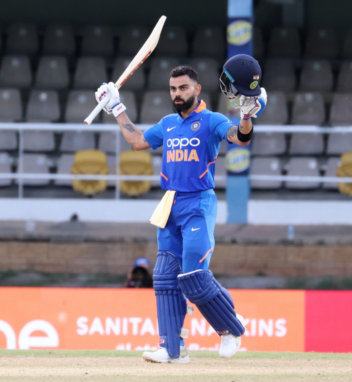 Virat Kohli scored his 43rd ODI century. Photo courtesy: Twitter/@BCCI