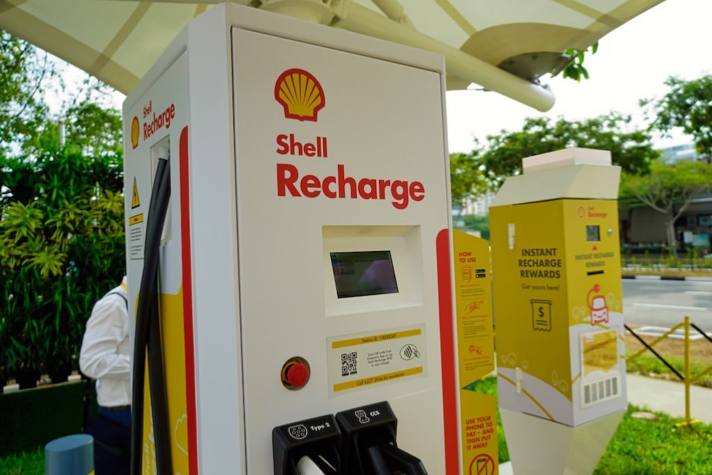 Shell said the chargers typically provide from 0 per cent to 80 per cent charge in about 30 minutes and are compatible with most electric vehicles in Singapore.