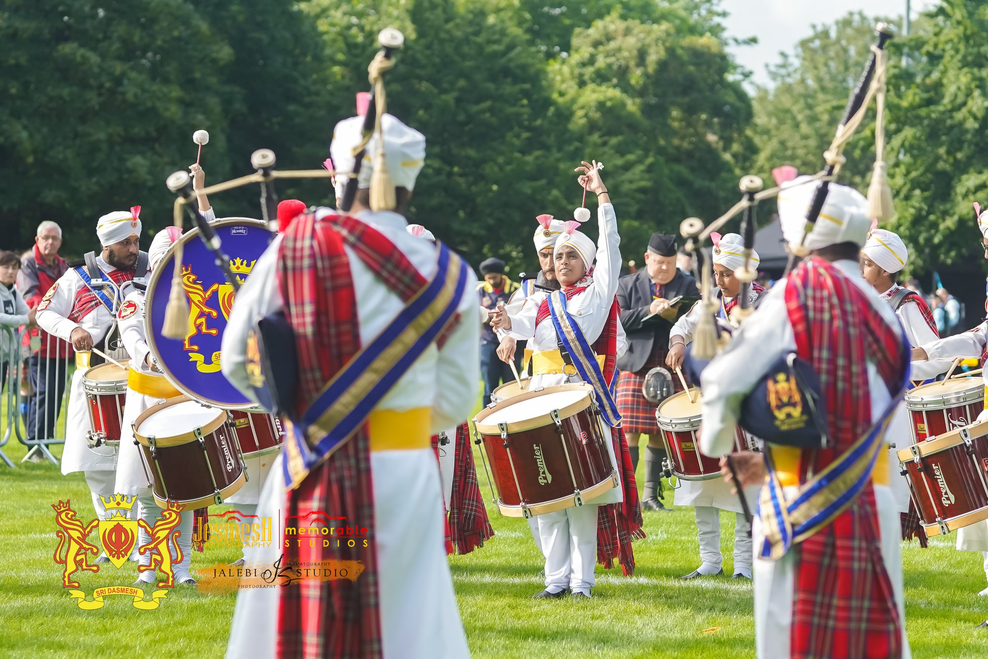 Sri Dasmesh Pipe Band at World Pipe Band Championships. Photo courtesy: Sri Dasmesh Pipe Band FB