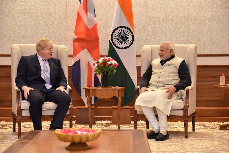 Modi, in a telephone call with Johnson, said vested interests were pursuing their agenda with violent means.