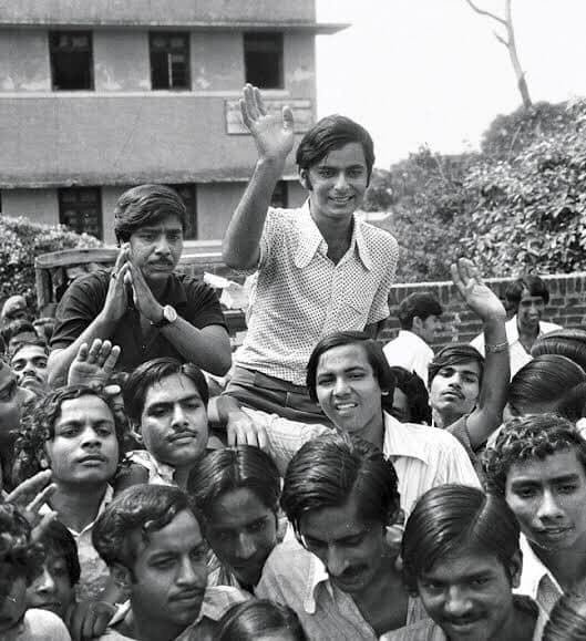 Mr Jaitley was a senior of my father's at the Shriram College of Commerce (SRCC), so I had heard quite a bit about him growing up. Photo courtesy: Twitter/@ABVPVoice
