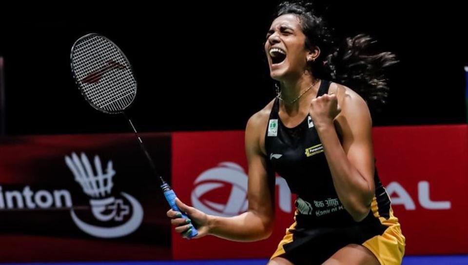 PV Sindhu won gold at the badminton World Championships in Basel on Sunday. Photo courtesy: Twitter/@GautamGambhir