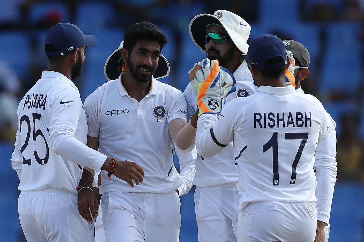 India beat West Indies by 318 runs in the 1st Test. Photo courtesy: Twitter/@BCCI
