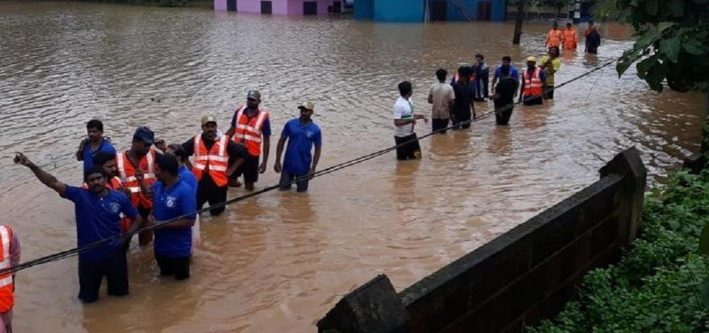 While the plight of their families back home kept the Kerala expats on pins and needles as flood fury worsened, hundreds of them who had gone to their native place on vacation were themselves stranded for days on end.