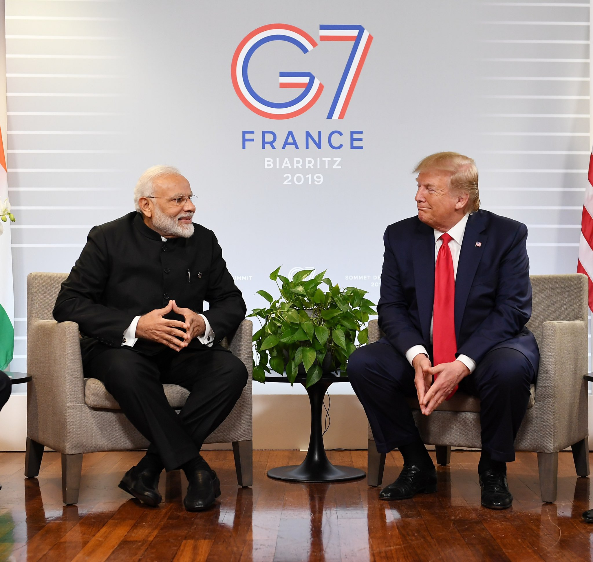 Modi and Trump had met on the sidelines of the G7 Summit earlier this week. Photo courtesy: Twitter/@narendramodi