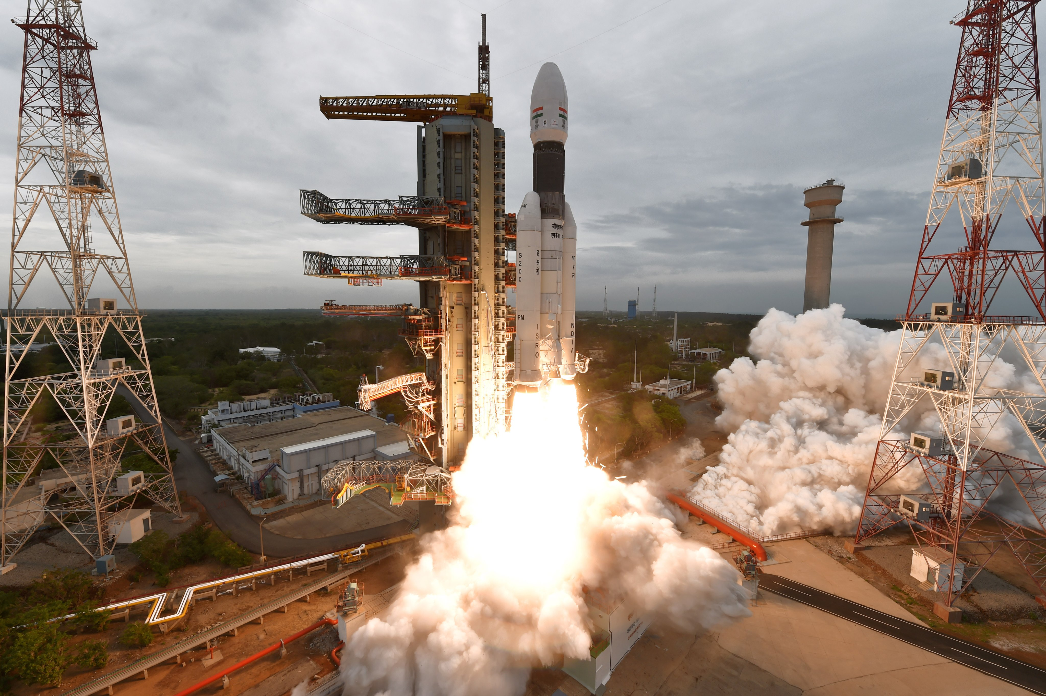 Chandrayaan 2 lifted off from India's spaceport at Sriharikota in Andhra Pradesh on July 22. Photo courtesy: Twitter/@isro