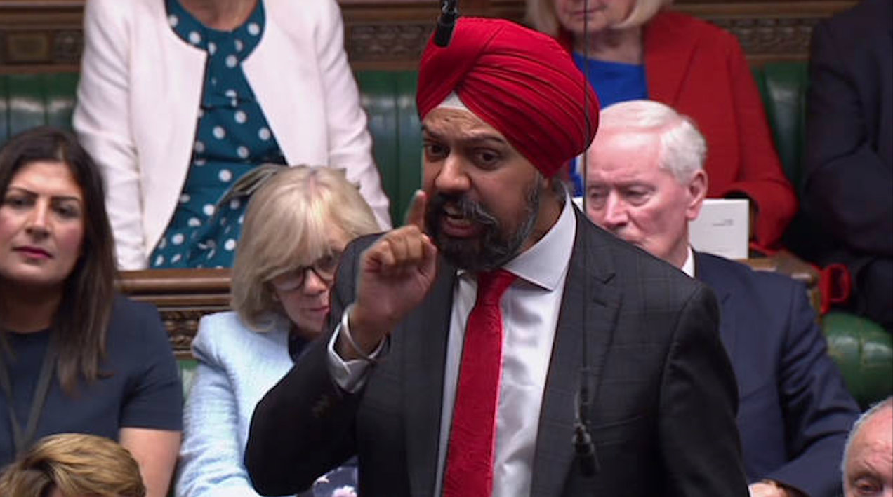 British Sikh MP Tanmanjeet Singh Dhesi demanded an apology from Boris Johnson for