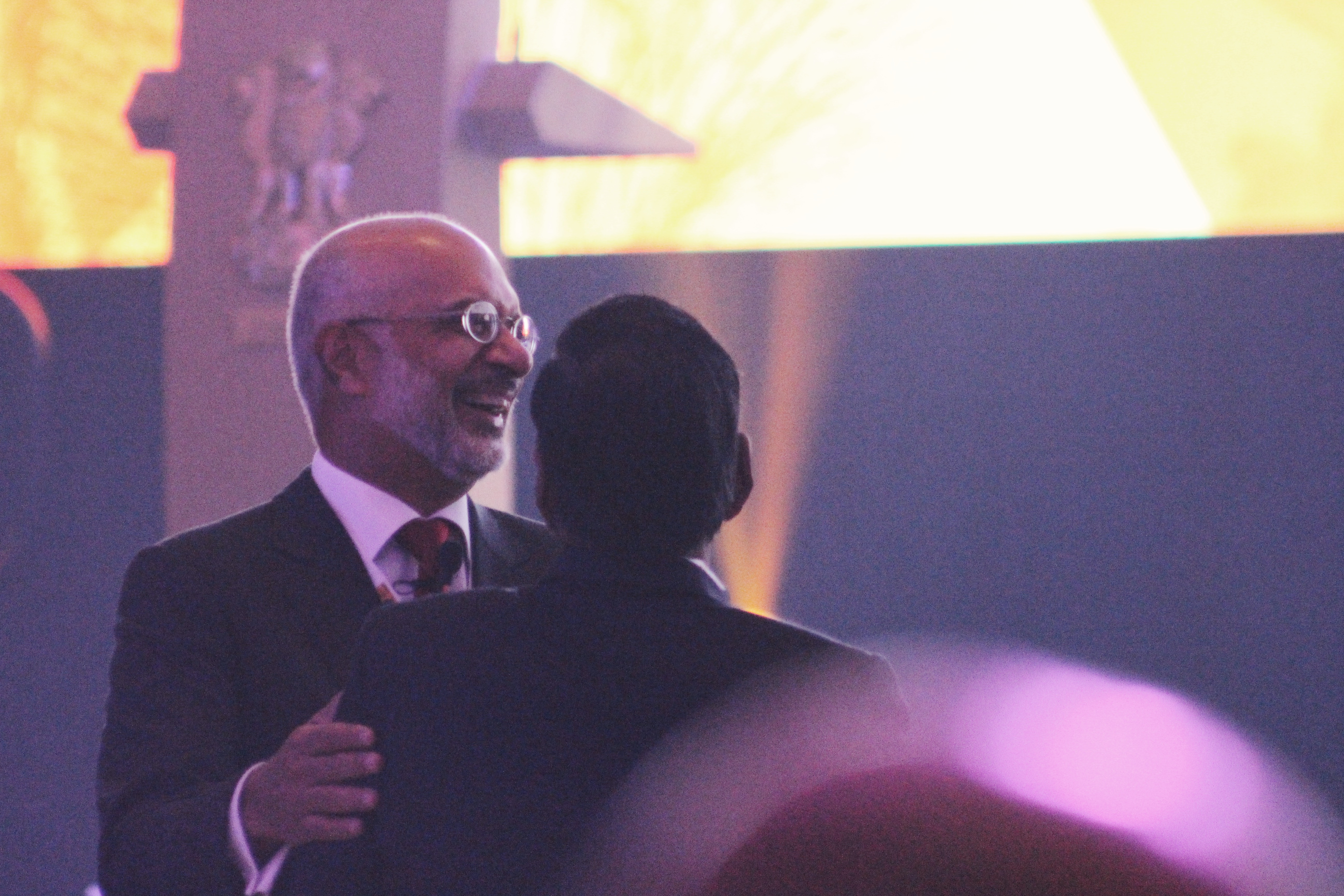 Piyush Gupta, Chief Executive Officer and Director of DBS Group, seen at the summit. Photo: Connected to India