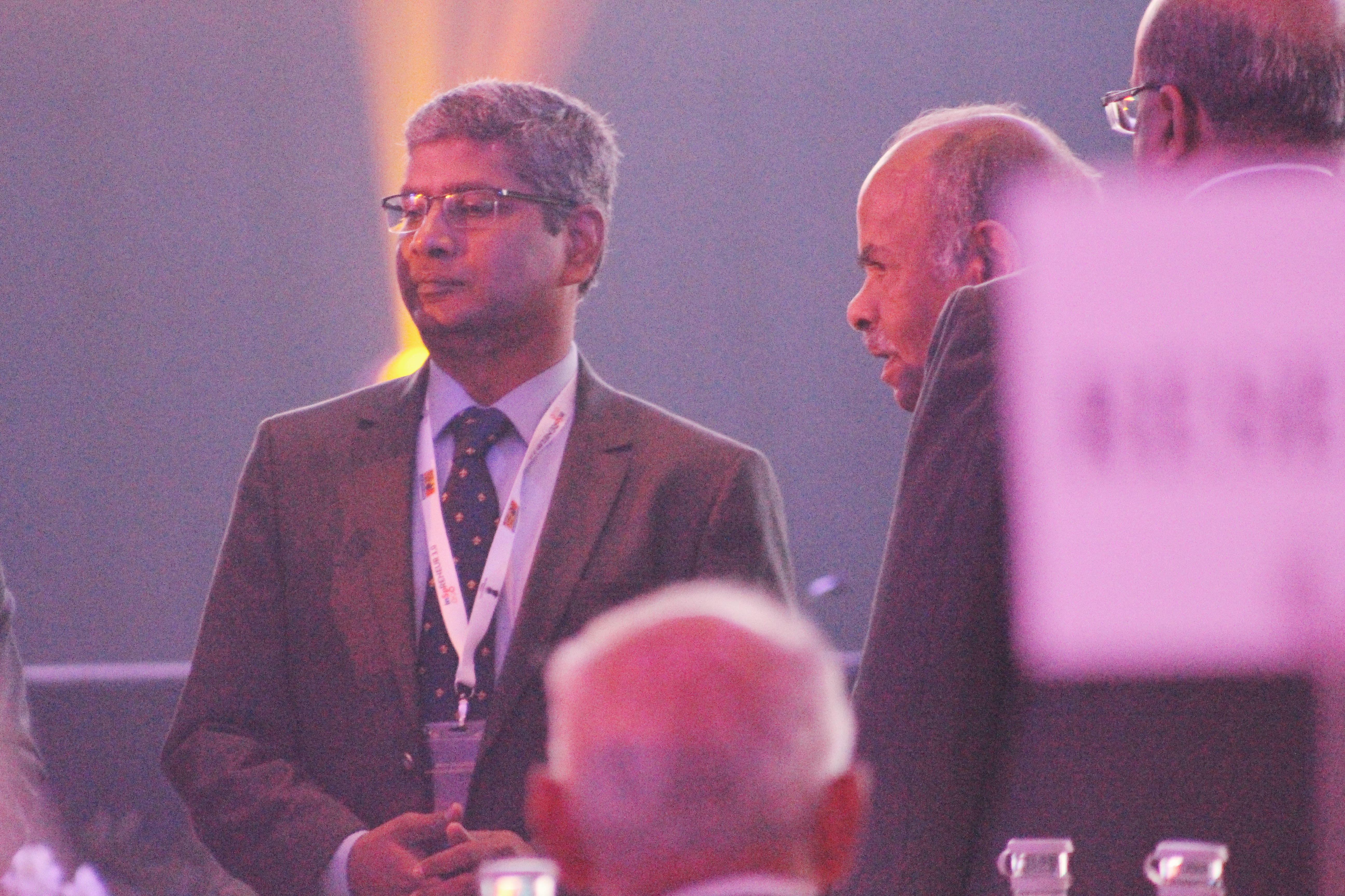 Kishore Kumar Poludasu, Country Head of SBI in Singapore, seen at the summit. Photo: Connected to India