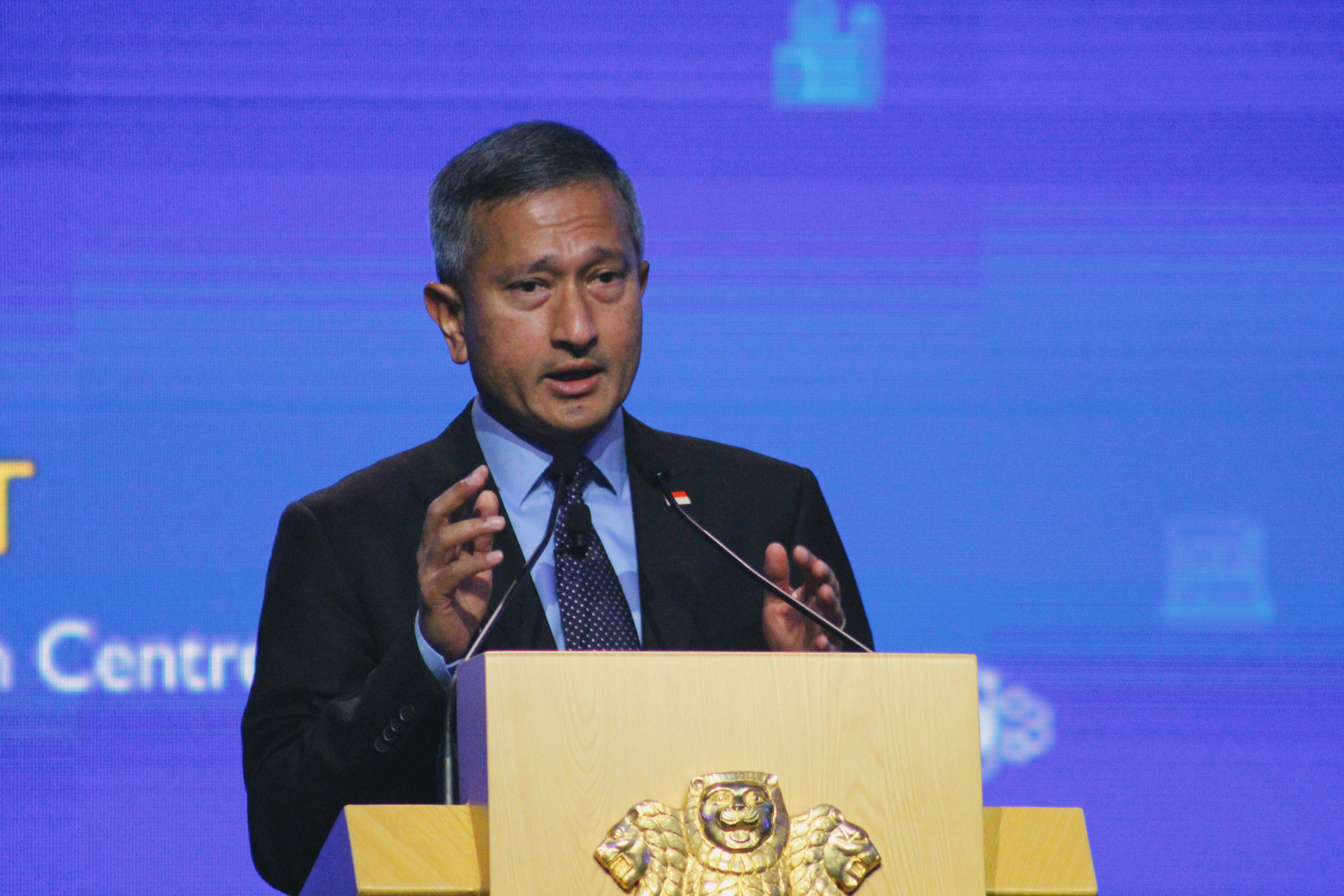 Singapore Minister for Foreign Affairs Vivian Balakrishnan has urged India and China to overcome their differences. Photo courtesy: Connected to India