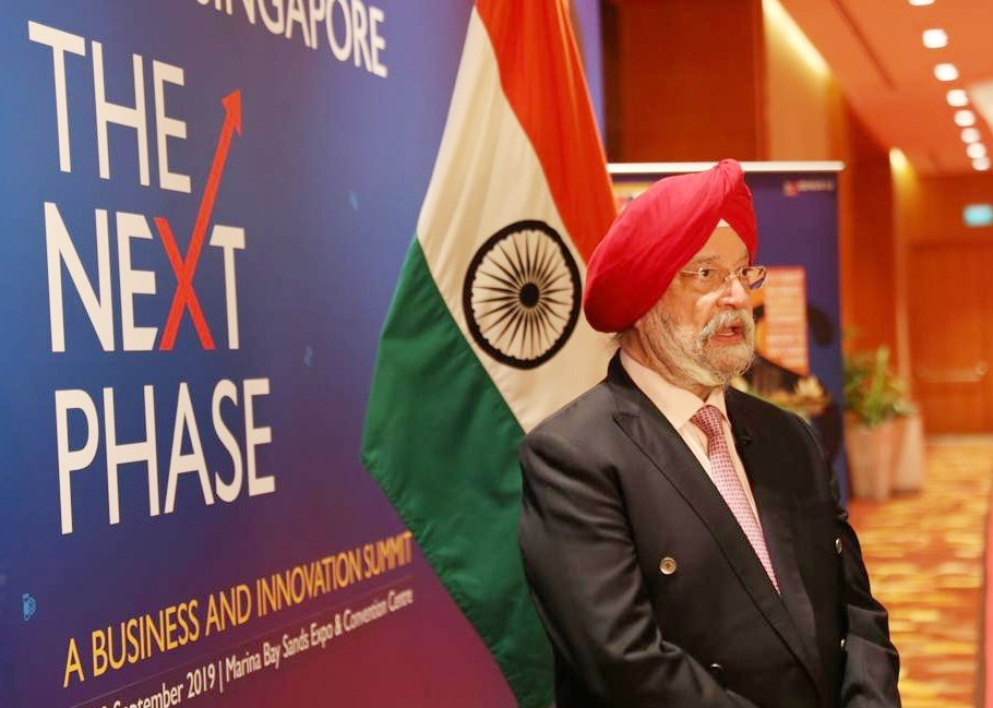 For India, Singapore has been, over the past three decades, the political, economic and intellectual bridge to South East Asia , Hardeep Singh Puri, India's Minister of State for Housing, Urban Affairs, Civil Aviation and Commerce and Industry said. Photo courtesy: Twitter/@HardeepSPuri
