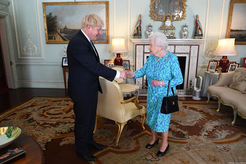Boris Johnson has denied lying to Queen Elizabeth about his reasons to suspend Parliament. File photo courtesy: Facebook/The Royal Family