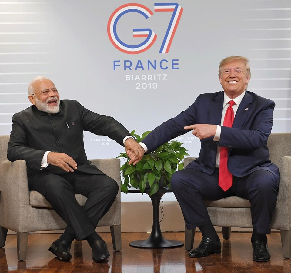 Modi requested Trump for a joint address when they met at G7 in France last month. Photo courtesy: Facebook/Narendra Modi