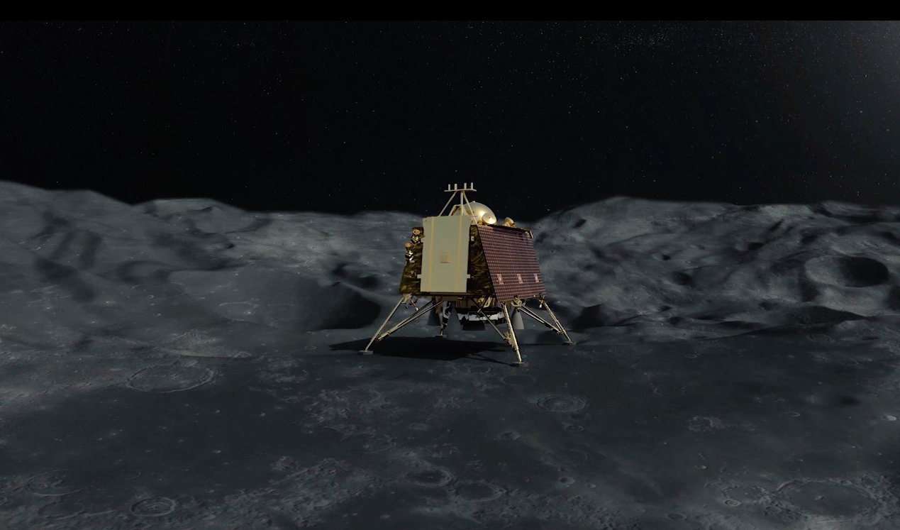 Chandrayaan 2's lunar lander Vikram has a lifespan of 14 Earth days. Photo courtesy: ISRO