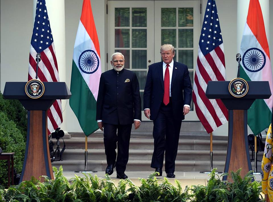 Donald Trump has said he will be meeting both the Indian and Pakistan prime ministers soon. File photo courtesy: Facebook/Narendra Modi