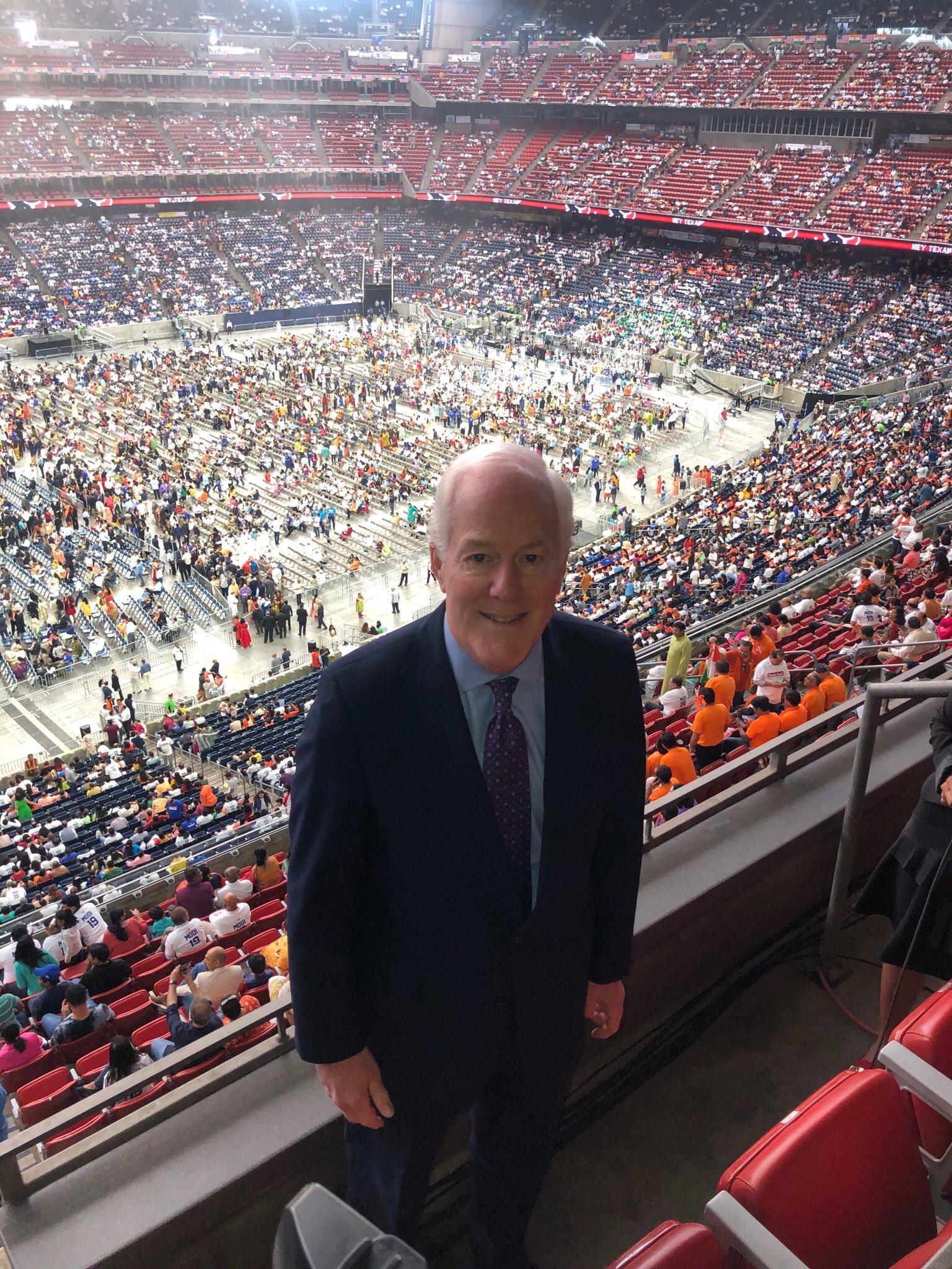 US Senator John Cornyn also addressed the crowd. Photo courtesy: Twitter