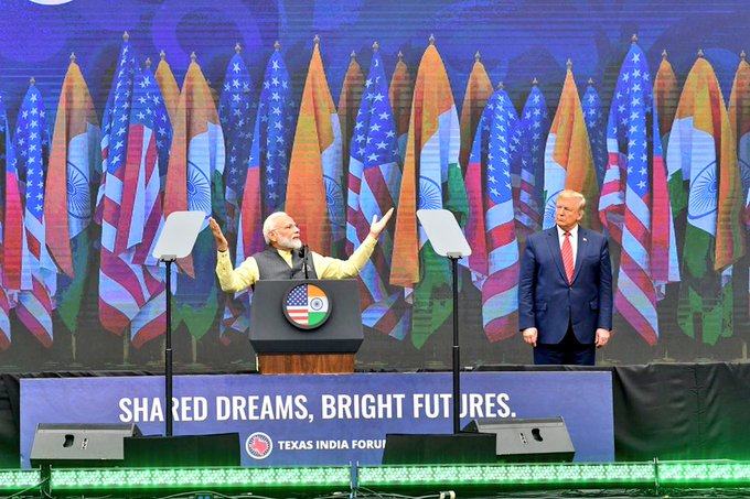 The Indian leader was effusive in his praise of Trump and the latter's support for the Indian-American community.