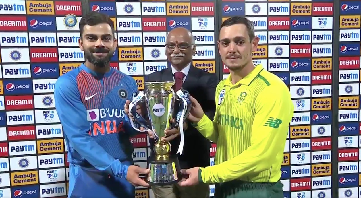 The India vs South Africa T20 series ended in a 1-1 draw. Photo courtesy: Twitter/@BCCI